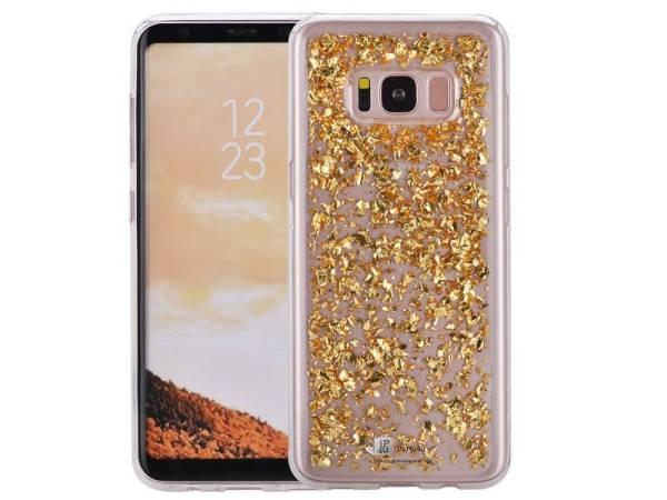 Glitter Hoesjes met Goud Snippers voor Samsung Galaxy S8