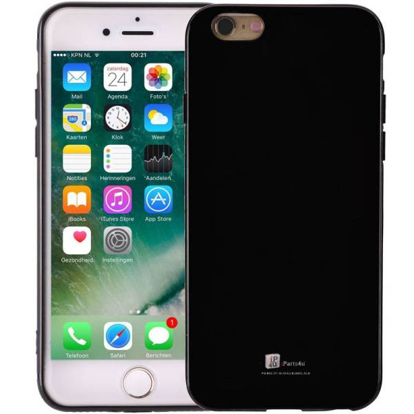 iPhone 6/6S Hoesje Siliconen Glanzend Zwart