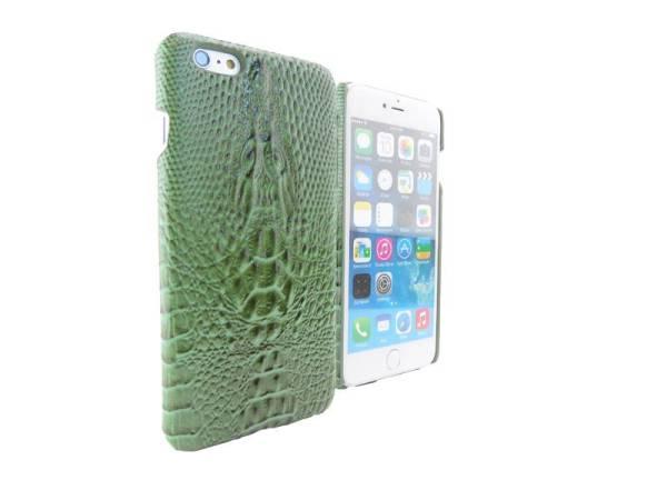 Krokodil Hardcover Snap Case iPhone 6 Plus Croco Groen