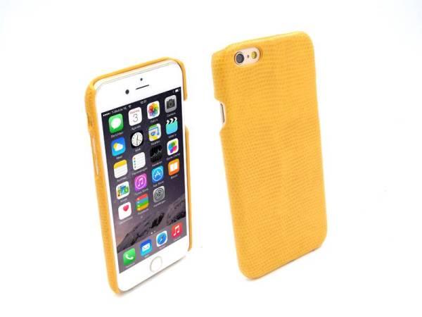 Snap Case iPhone 6 en 6S Slang Hardcover Geel