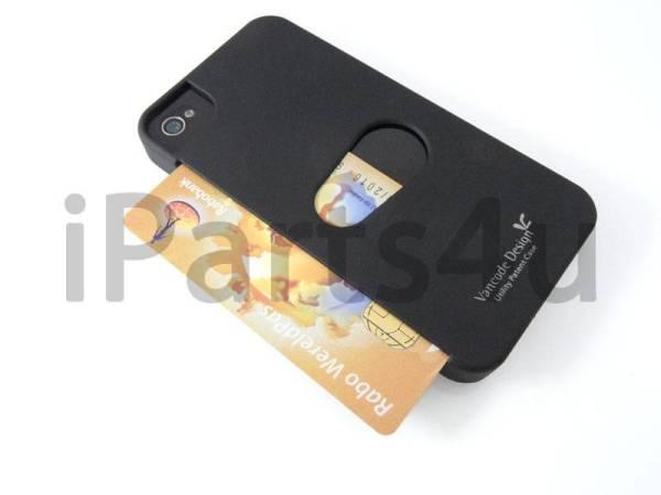 Card Case voor iPhone 4&iPhone 4S Zwart