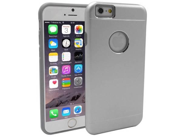 iPhone 6 en 6S Aluminium Hardcase Hoesje Zilver