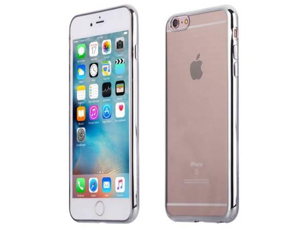 Ultradunne iPhone 6 Plus / 6S Plus Bumper Case Siliconen Zilver
