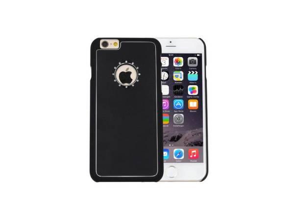 iPhone 6 / 6S Hardcase Hoesje Logo Diamantjes Zwart