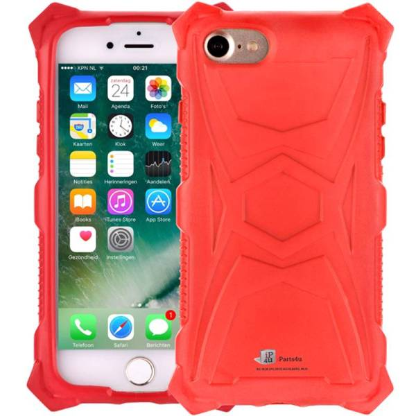Schokbestendig iPhone 8/7 Hoesje Rood Shockproof