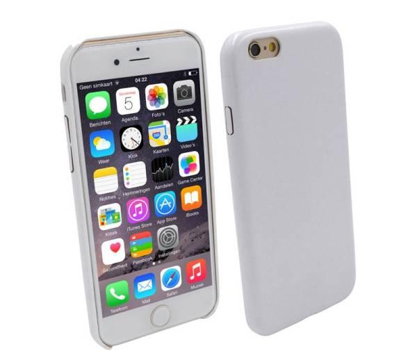 Ultra dunne Vinyl Lederen Backcover Case iPhone 6 Wit