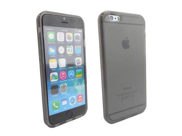 Siliconen Gel TPU iPhone 6 en 6S Hoesje Zwart Mat Transparant