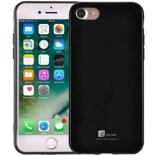 iPhone 8/7 Hoesje Siliconen Glanzend Zwart