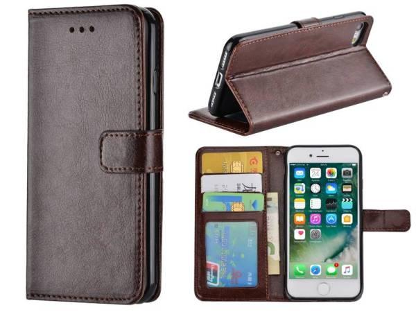iPhone 8 / 7 Bookcase Hoesje Bruin PU Leder