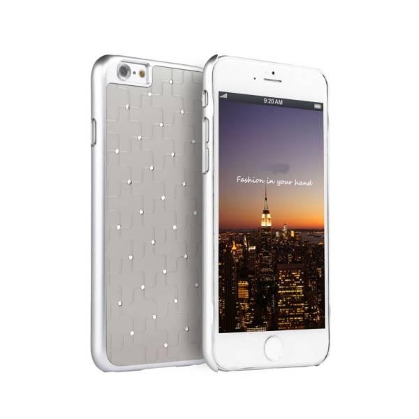 iPhone 6 en 6S Hardcover Case Hoesje Kruisjes Diamantjes/Strass Rose