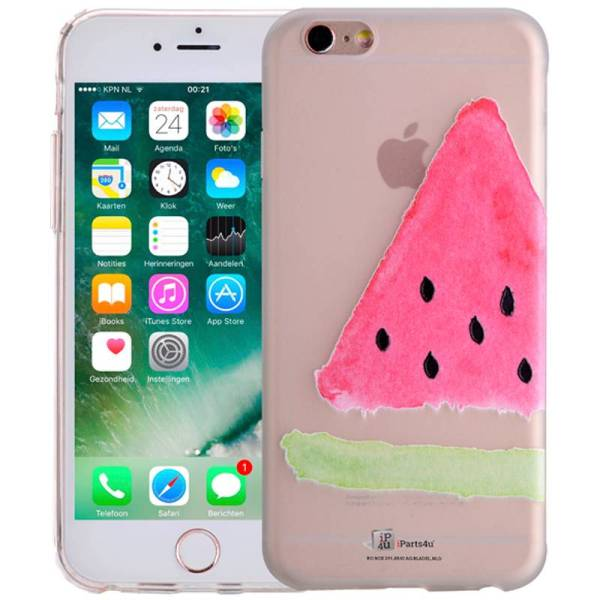 iPhone 8/7 Siliconen Hoesje Watermeloen Fruity