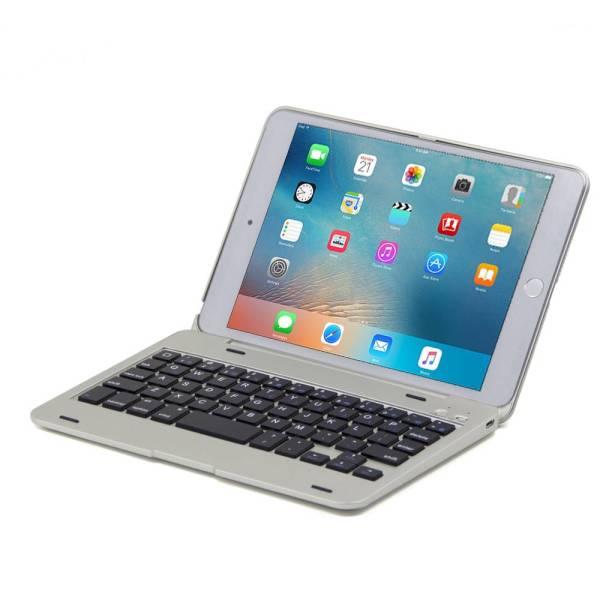iPad Mini 4 Toetsenbord Case Full Protection Zilver