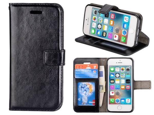 iPhone SE/5S/5 Bookcase Hoesje Zwart