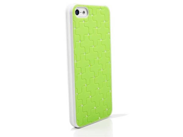 iPhone 5/5S Hardcover hoesje diamantjes Groen