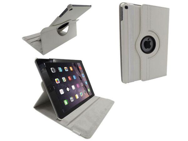 iPad Air 2 Leder Hoes Draaibaar 360 Graden Wit