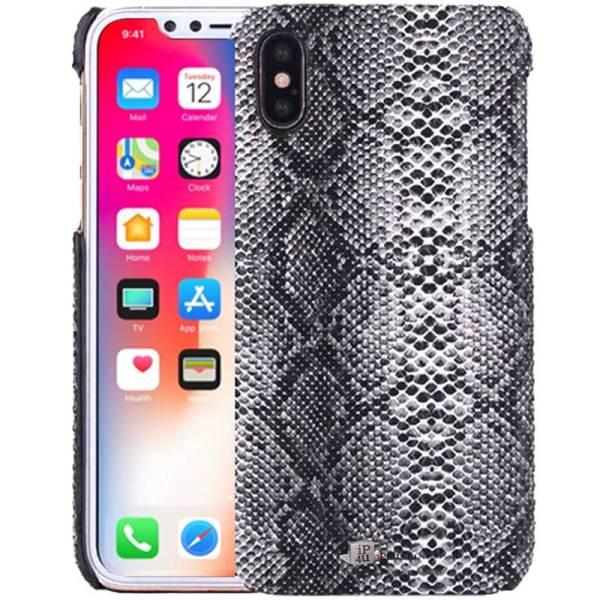 iPhone X Hoesje Softcase Slangen Print Zwart