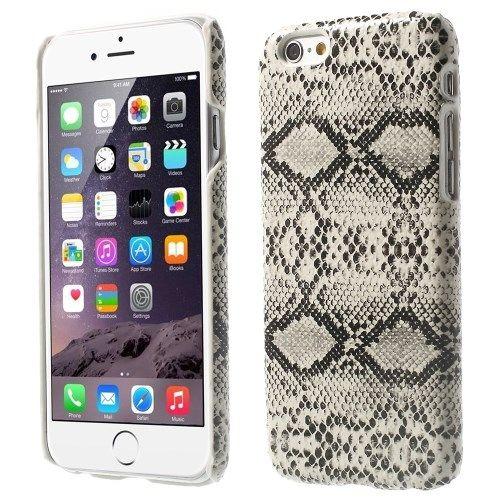iPhone 6 en 6S Hardcase Hoesje Slangenprint Wit