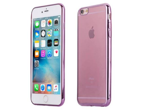 iPhone 6 en 6S Bumper Case Siliconen Ultra Dun Roze