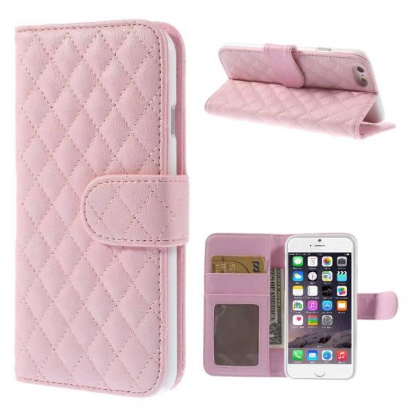 iPhone 6 en 6S Bookcase Hoesje Leder Roze