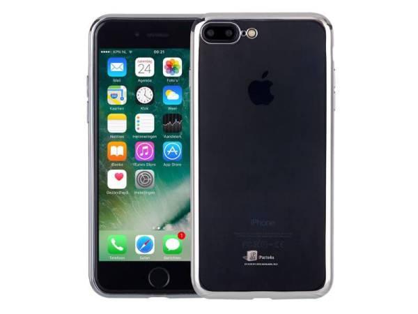Ultradun iPhone 8/7 Plus Hoesje Bumper Case Siliconen Zilver