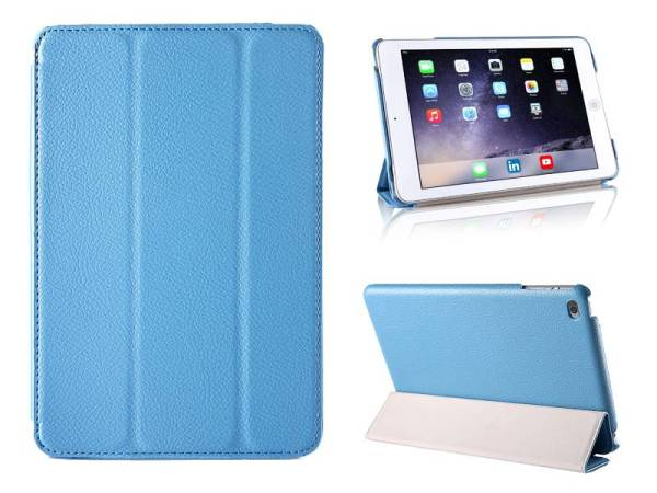 iPad Mini 4 Smart Case Hoes Leder Licht Blauw