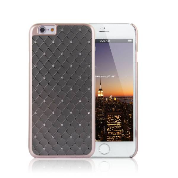 iPhone 6 6S Hardcase Hoesje Schub Diamantjes Rose
