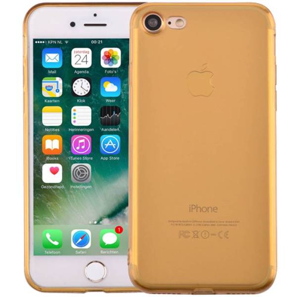 Ultra Dun iPhone 8/7 Hoesje Siliconen Goud Transparant