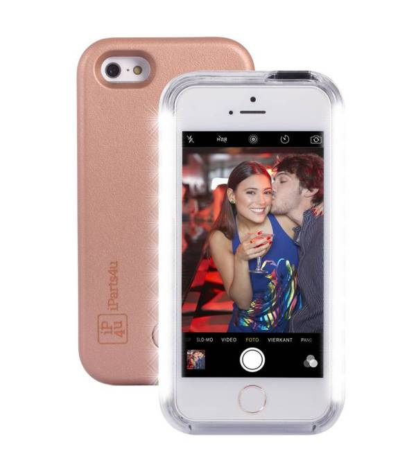 Selfie Hoesje iPhone SE/5S/5 Rose Goud