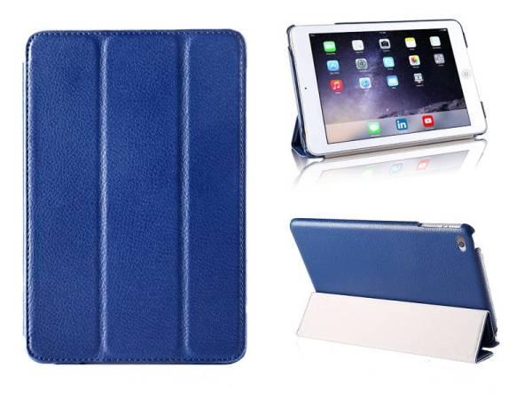 iPad Mini 4 Smart Case Hoes Leder Donker Blauw