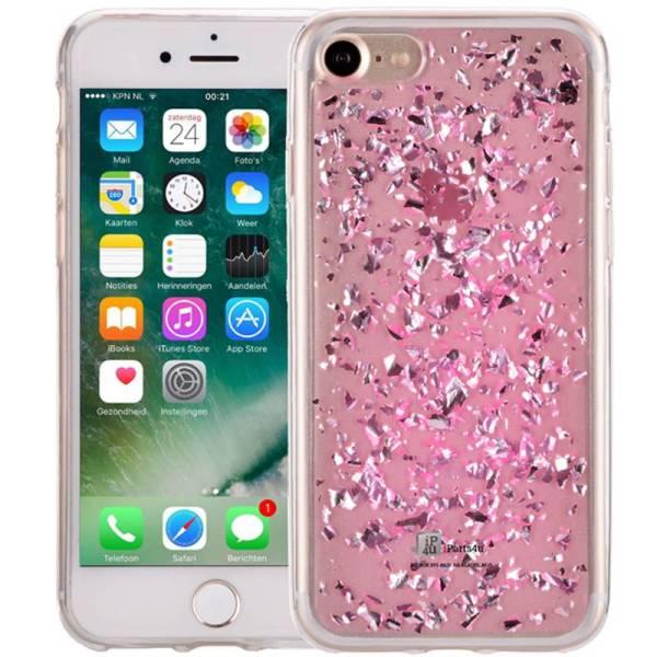 iPhone 8/7 Glitter Hoesje Snippers Roze