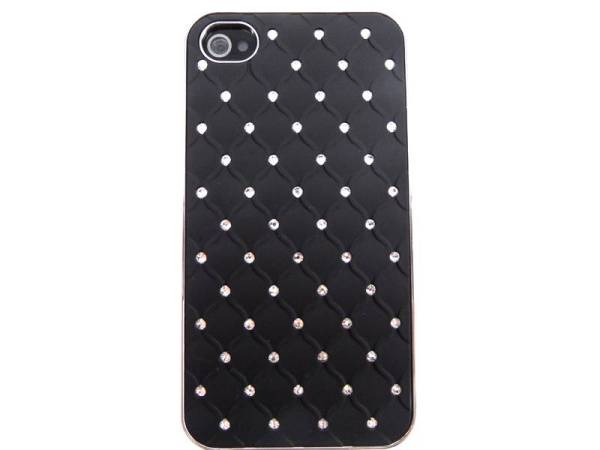 Hardcover Case Strass Steentjes iPhone 4S&4 Zwart