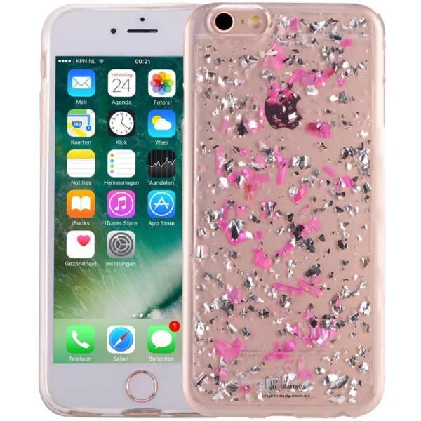 iPhone 6/6S Glitter Hoesje Snippers Parelmoer Roze