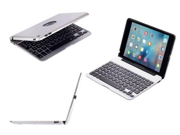 Aluminium Toetsenbord Hoes iPad Mini 4 Zilver Executive