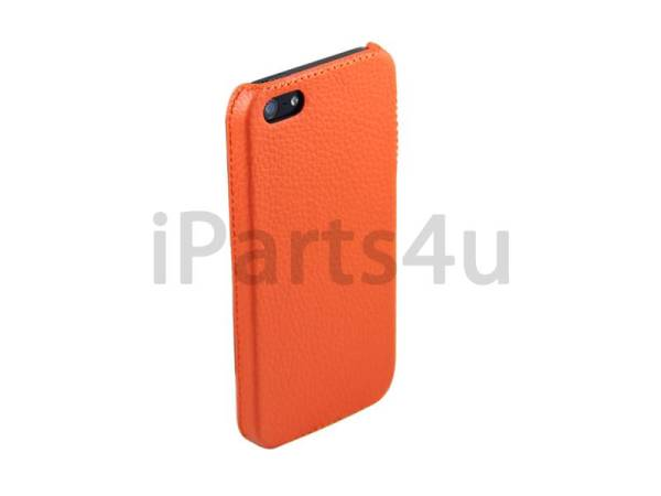 Hardcover Snap Case iPhone 5/5S Luxe Leder Oranje
