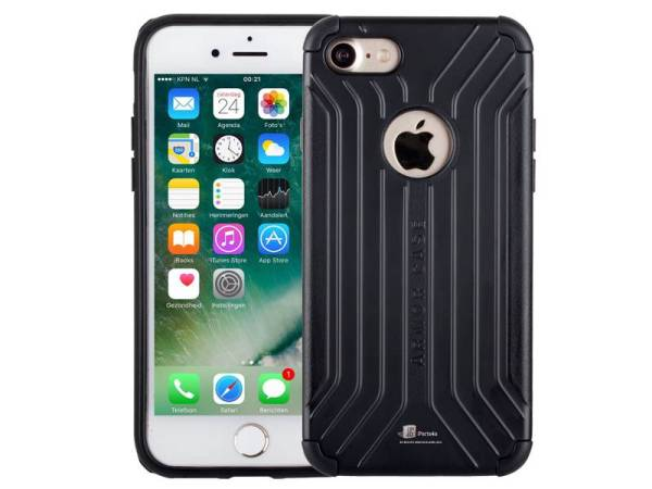 Armor iPhone 8/7 Hoesje Schokbestendig Hardcase Zwart
