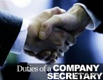 List of Duties and responsibilities of Company Secretary