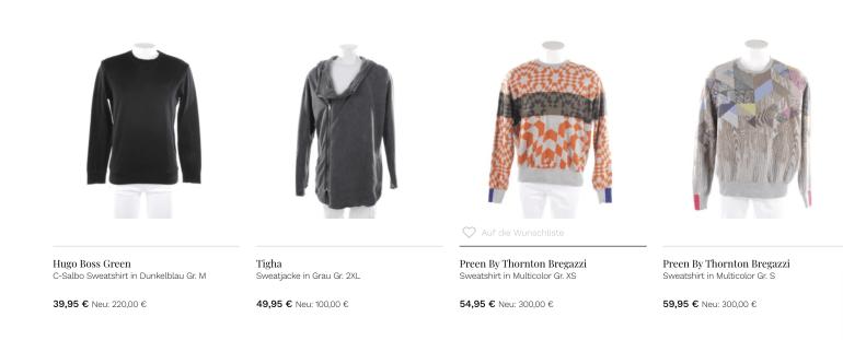 Vite enVogue: Auswahl aus dem Shop Screenshot