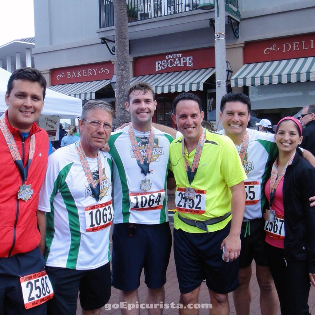 Celebration Half Marathon with the boys