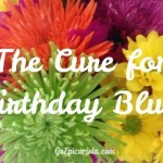 The Cure for Birthday Blues are my 12 Days of Birthday Celebration. See the list at www.goEpicurista.com