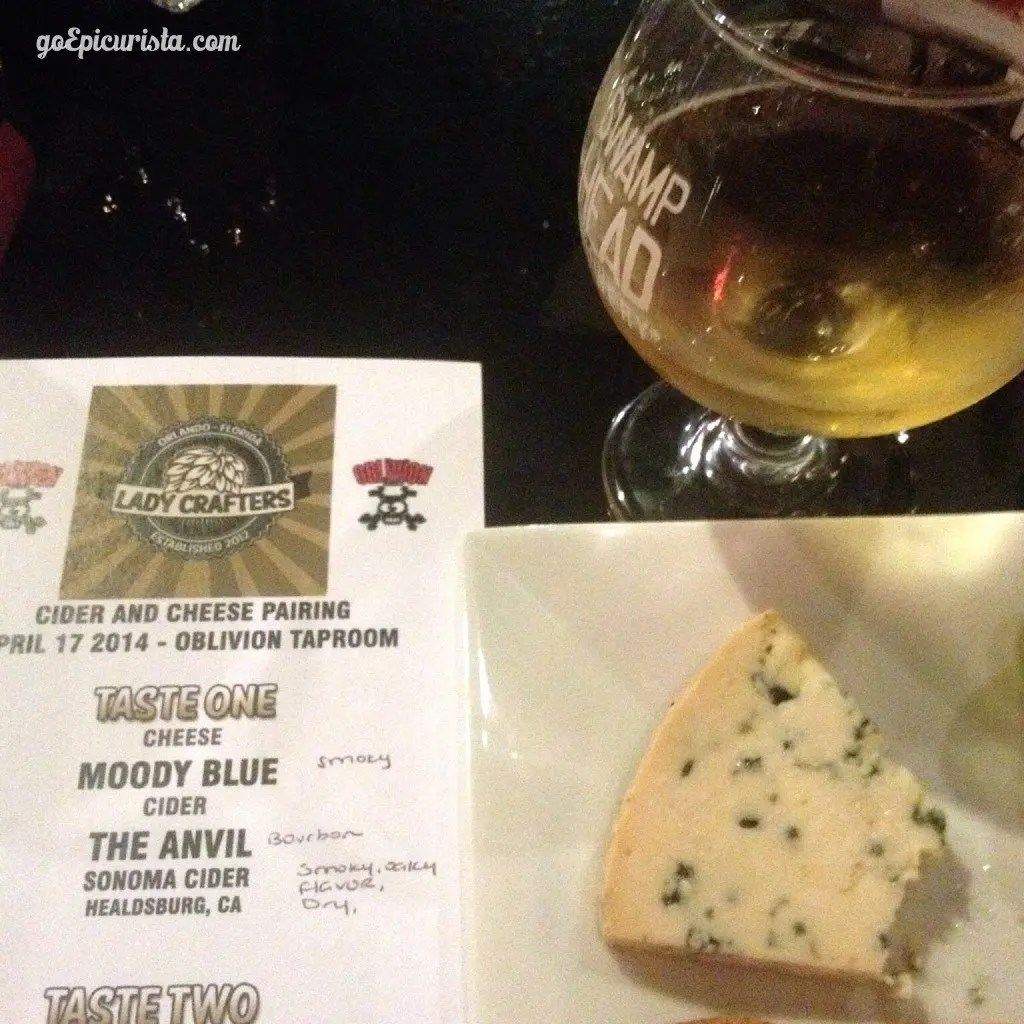 Cider and Cheese Tasting Oblivion Tap Room review www.goepicurista.com