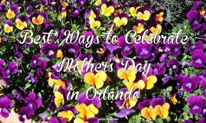 Celebrate Mother's Day Orlando with www.goepicurista.com