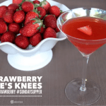 Strawberry Bee's Knees Cocktail