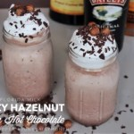 Boozy Hazelnut Frozen Hot Chocolate for #SundaySupper #JuneDairyMonth