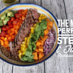 Steak and Farro Rainbow Salad for #SundaySupper by GoEpicurista.com