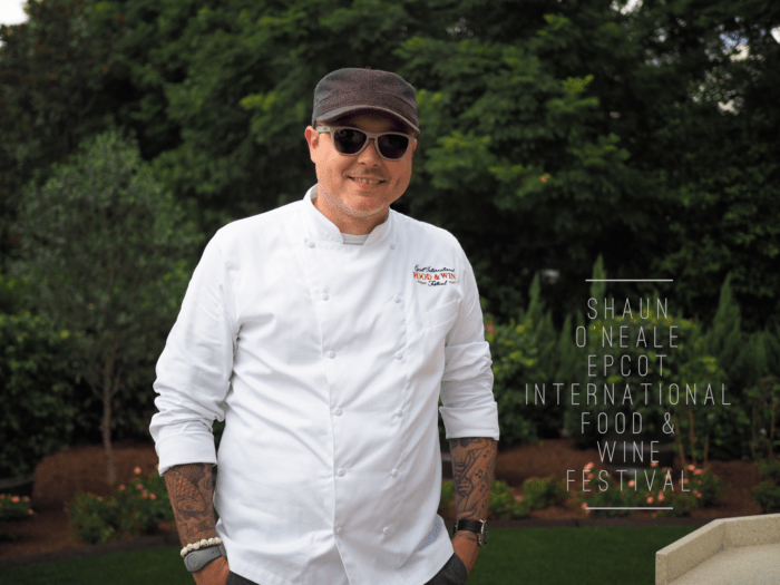 MasterChef Shaun O'Neale Visits Epcot Food and Wine Festival - Interview with GoEpicurista.com talks about eating and drinking around the world and his Squid Ink Lobster Ravioli