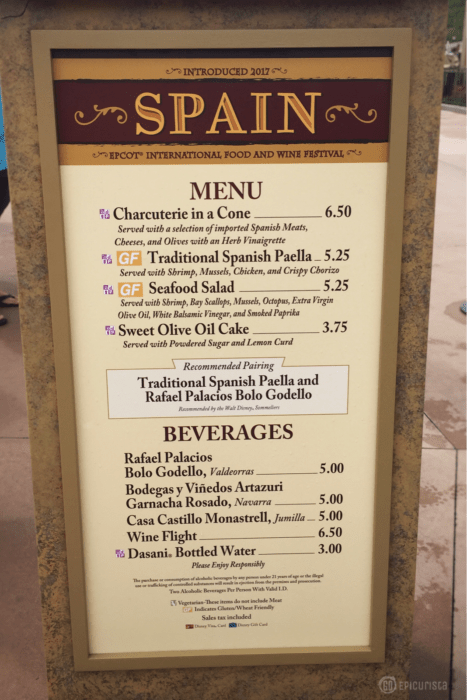 My Epic 35 Days of Epcot: Spain Must Eat and Drink Dishes with GoEpicurista.com during Epcot Food and Wine Festival