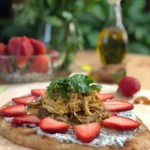 Rotisserie Chicken Strawberry Pizza recipe from GoEpicurista.com #SundaySupper #FLStrawberry