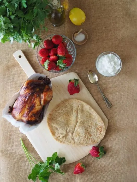 Rotisserie Chicken Strawberry Pizza recipe from GoEpicurista.com #SundaySupper #FLStrawberry