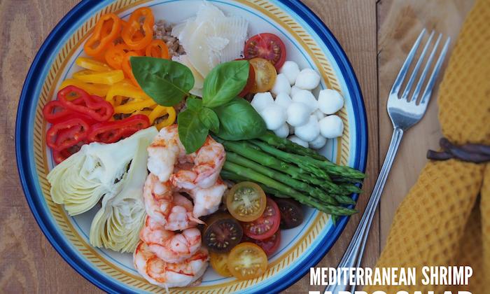 Mediterranean Shrimp Farro Salad