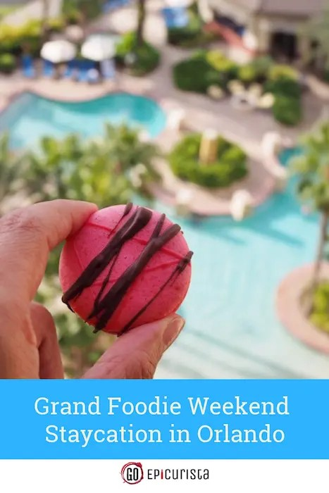 Plan a Grand Foodie Weekend Staycation or Vacation in Orlando at Wyndham Grand Orlando Bonnet Creek in Walt Disney World Resort. Check out this review with loads of drool-worthy food photos you can experience at this world class resort.